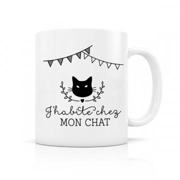 Mug J'habite Chat