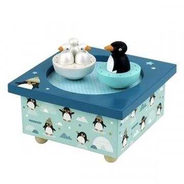 Boite à musique Pingouins